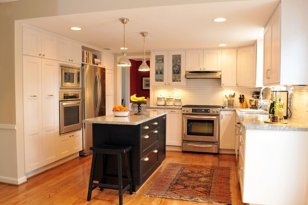 Ikea Microwave for a Eclectic Kitchen with a Eclectic and C.m. Hellmann by Dwellings Design Build