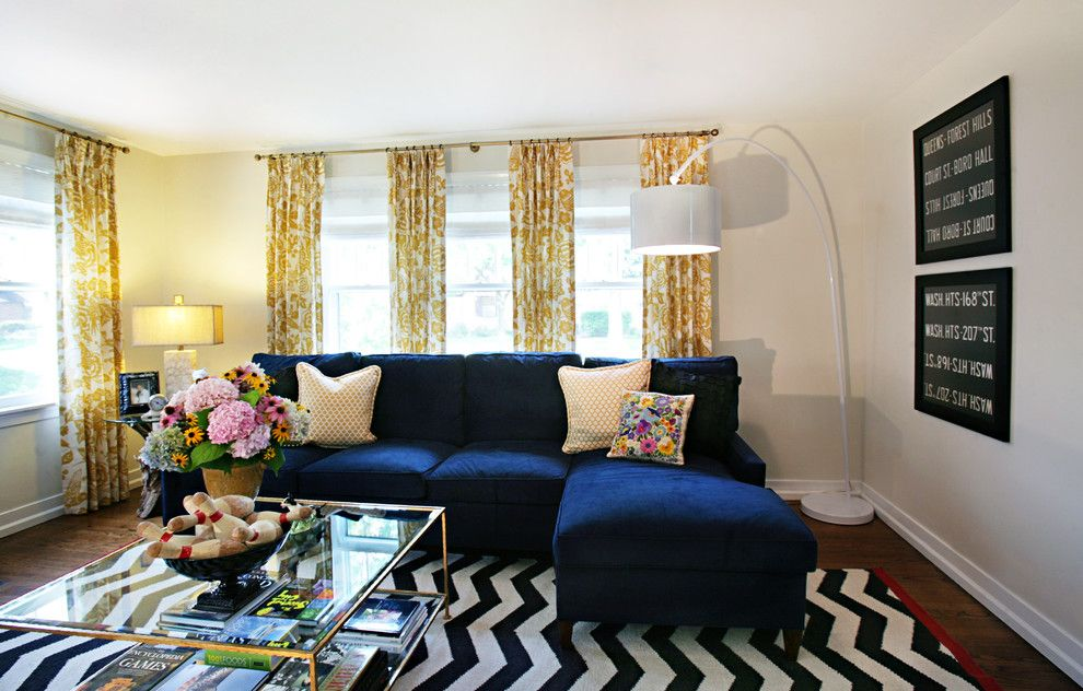 Ikea Panel Curtains for a Eclectic Living Room with a Square Coffee Table and Western Springs Living Room by Debbie Basnett, Vintage Scout Interiors