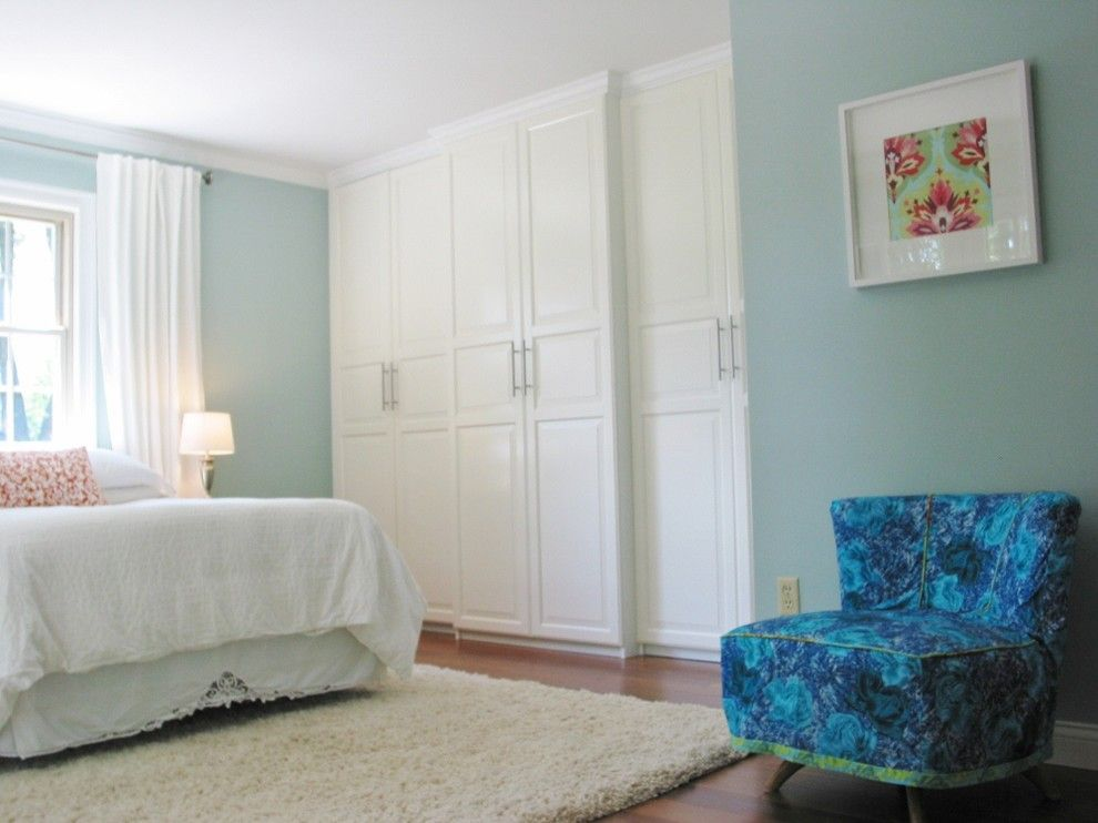 Ikea Pax System for a Eclectic Bedroom with a Ikea Closet and Niesz Vintage by Kimberly Niesz