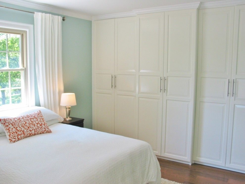 Ikea Pax System for a Traditional Bedroom with a Window Treament and Niesz Vintage by Kimberly Niesz