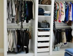Ikea Pax Wardrobe for a Transitional Closet with a Mouldings and DIY IKEA Hack PAX Wardrobe Dressing Room by Classy Glam Living
