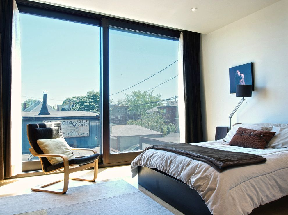 Ikea Poang for a Modern Bedroom with a Sapele and Bedroom by Andrew Snow Photography