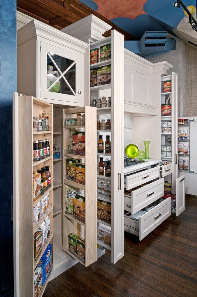 Ikea Ps Cabinet for a Traditional Kitchen with a Pantry and Classic White by the Hammer & Nail, Inc.