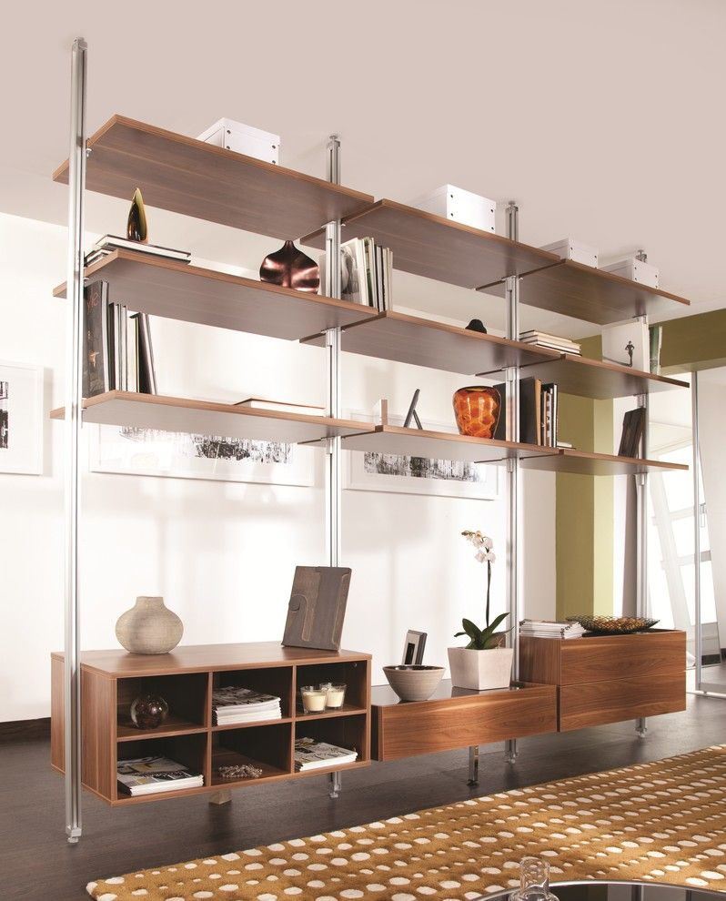 Ikea Stolmen for a Contemporary Bedroom with a Room Divider and Relax Wall Unit by Mayor of Hardware