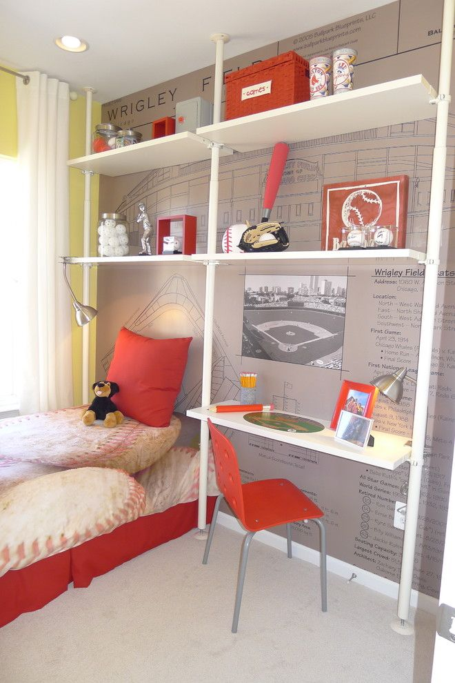 Ikea Stolmen for a Contemporary Kids with a Pillow and Gallery Park by Carlyn and Company Interiors + Design