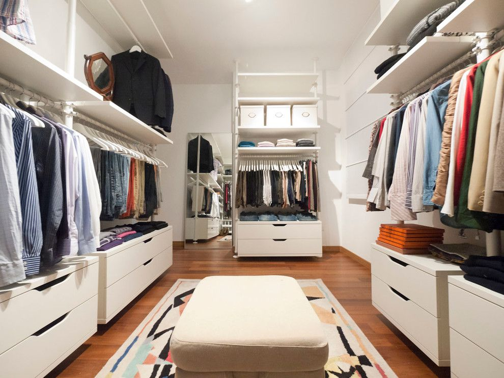 Ikea Stolmen for a Modern Closet with a Closet Storage and Walk in Closet by Liadesign