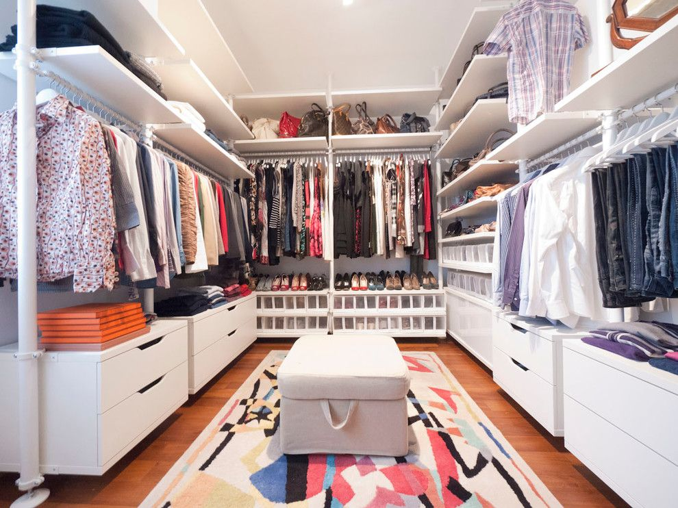 Ikea Stolmen for a Modern Closet with a Modern Walk in Wardrobe and Walk in Closet by Liadesign