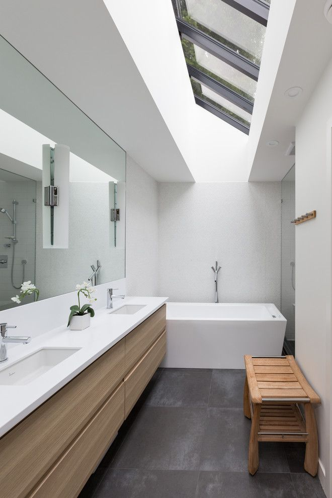 Ikea Tempe Az for a Contemporary Bathroom with a White Ceiling and Tempe Crescent by Vallely Architecture