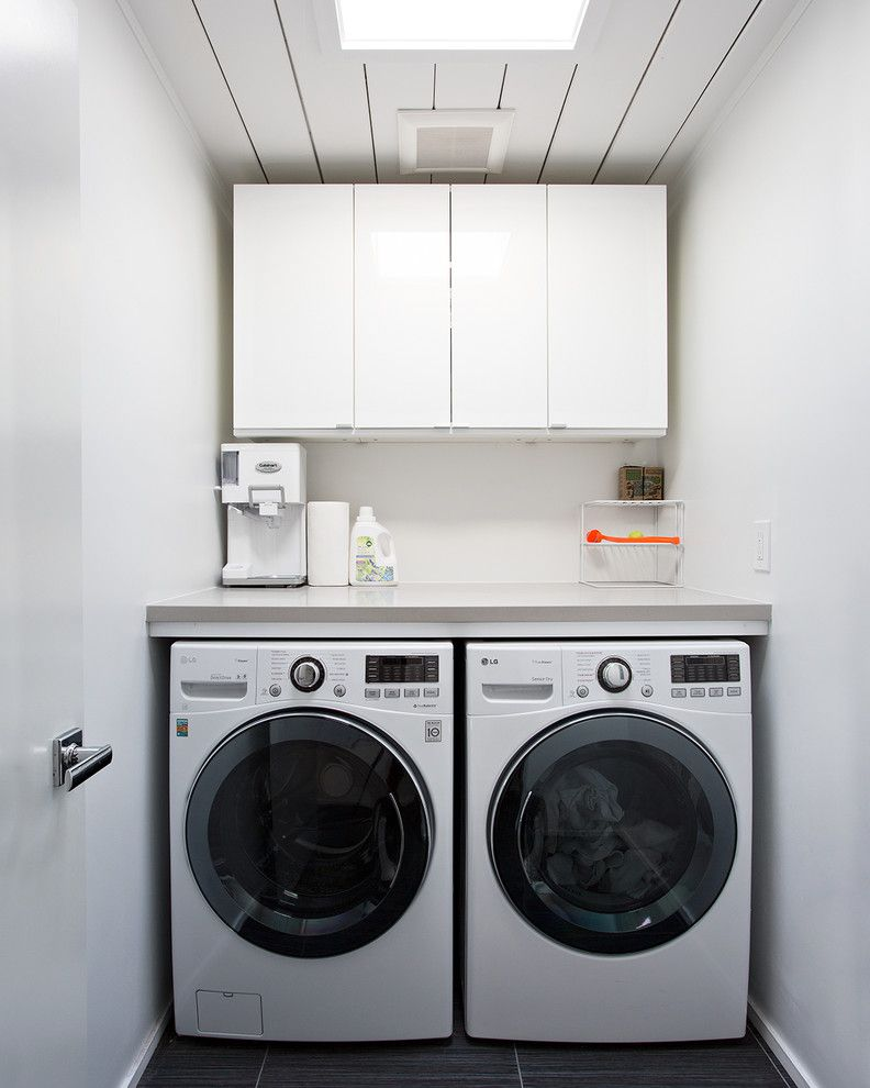 Ikea Tempe Az for a Midcentury Laundry Room with a Eichler and Double Gable Eichler Remodel by Klopf Architecture