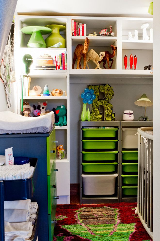 Ikea Trofast for a Eclectic Bedroom with a My Houzz and My Houzz: Brin & Nate by Rikki Snyder