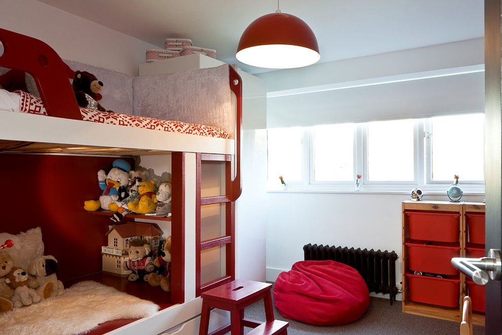 Ikea Trofast for a Modern Kids with a Built in Storage and Wickets by Boutique Homes