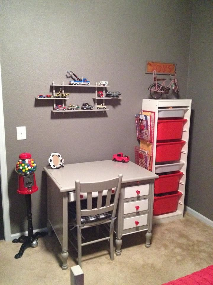 Ikea Trofast for a Modern Kids with a Modern and Moses' Room by Nicole Yandle