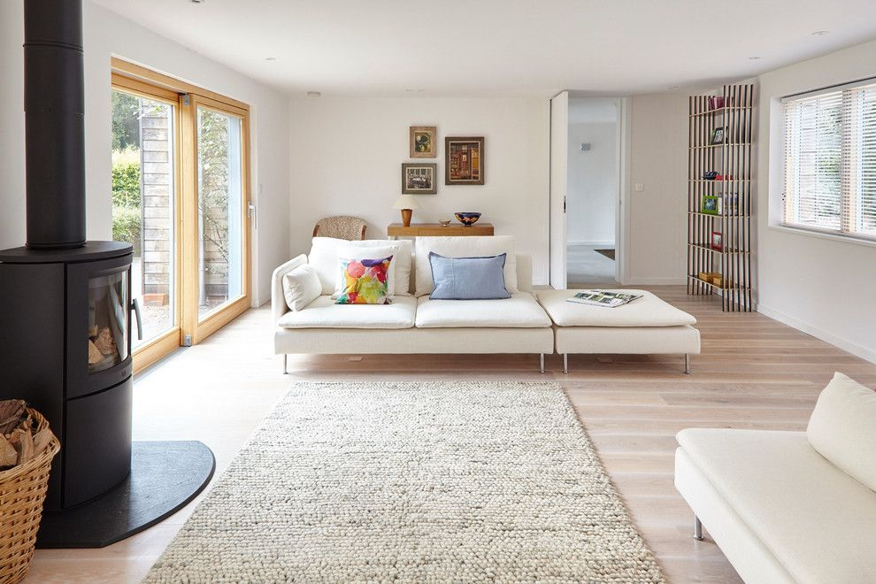 Ikea Varde for a Contemporary Living Room with a Double and Contemporary Living Room by michaelcrockett.com