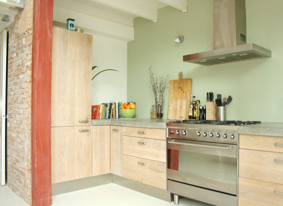 Ikea Varde for a Industrial Kitchen with a Industrial and the Home of Stella and Joeri by Holly Marder