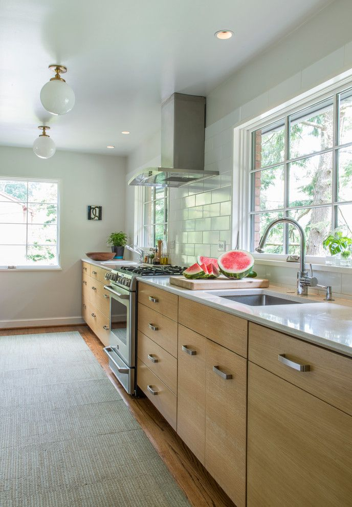 Ikea Varde for a Transitional Kitchen with a Exhaust Hood and Transitional Kitchen by Rillarchitects.com