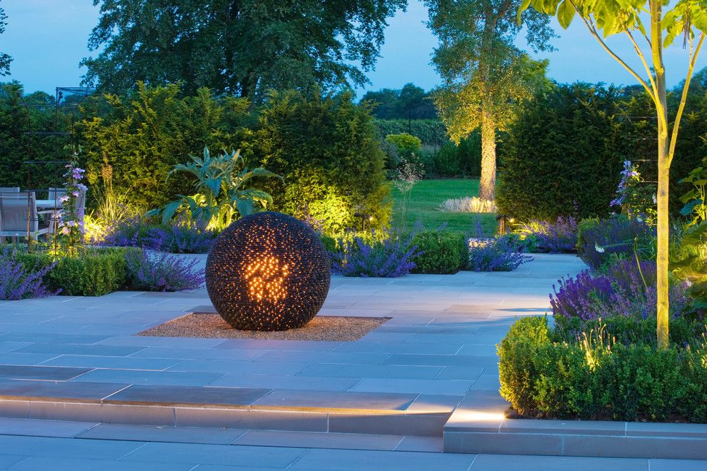 Illuminations Lighting for a Contemporary Landscape with a Outdoor Lighting and Garden Lighting by Deakinlock Garden Design