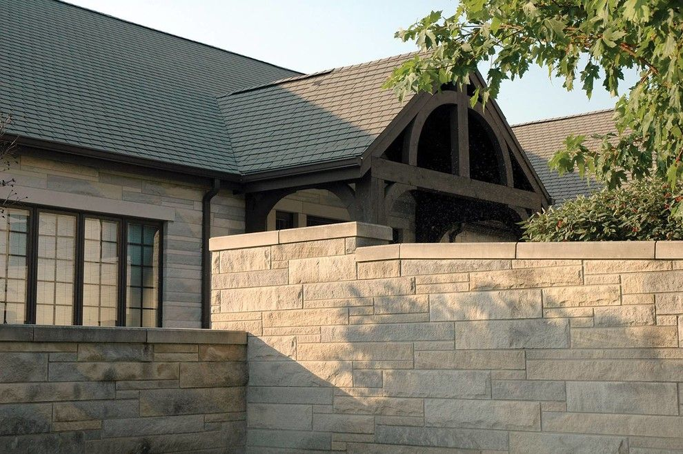 Indiana Limestone for a  Spaces with a Exterior and Indiana Limestone Classic Splt Face by Indiana Cut Stone