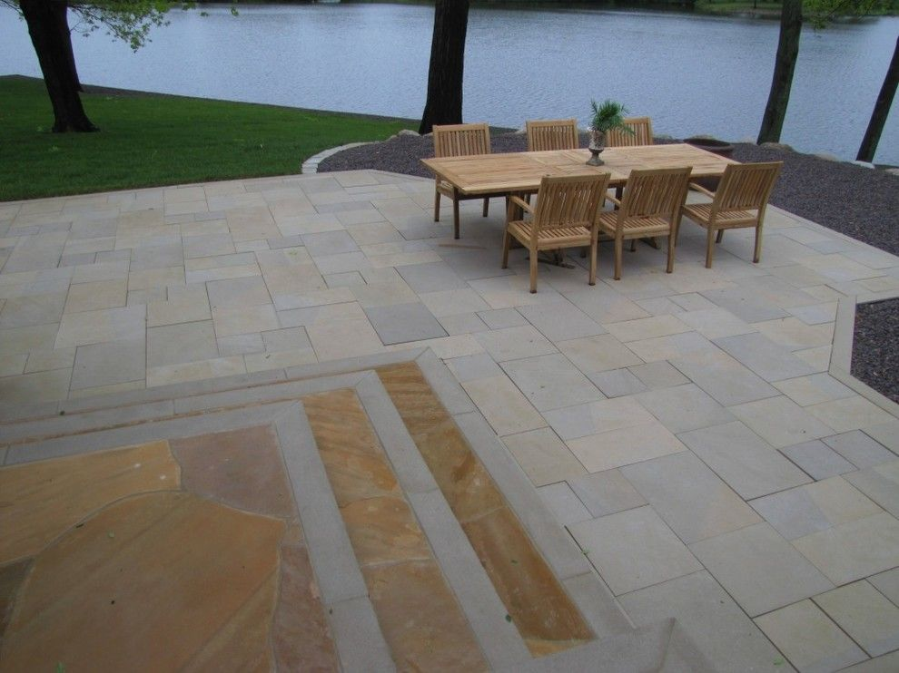 Indiana Limestone for a  Spaces with a Flagging and Indiana Limestone Pavers by Hickory Ridge Stone