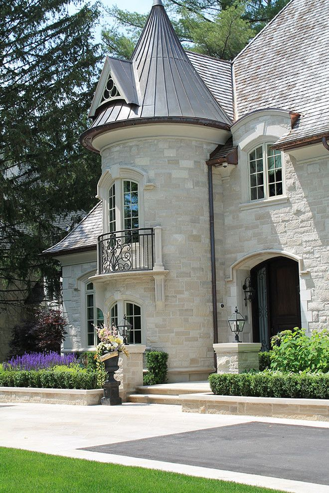 Indiana Limestone for a Traditional Exterior with a Stone and Aurora Home 1 by Taylor Design Group