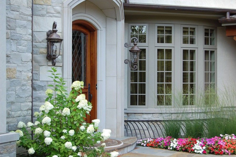 Indiana Limestone for a Traditional Exterior with a Stone Facade and Elevation by Maddock Construction Company