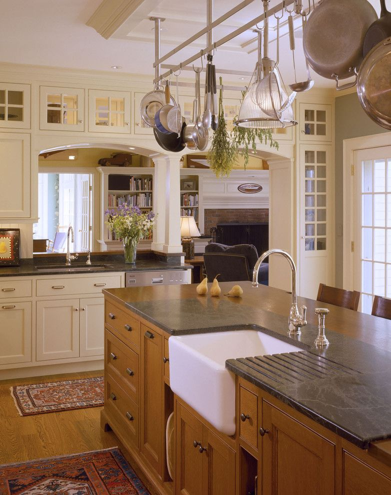 Inset Cabinets for a Traditional Kitchen with a Oriental Rug and Concord Kitchen2 by Battle Associates, Architects