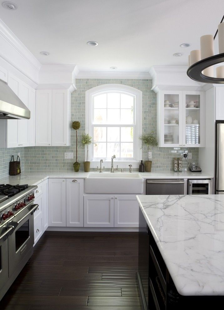 Installing Backsplash for a Traditional Kitchen with a Stainless Steel Appliances and San Jose Res 2 by Fiorella Design