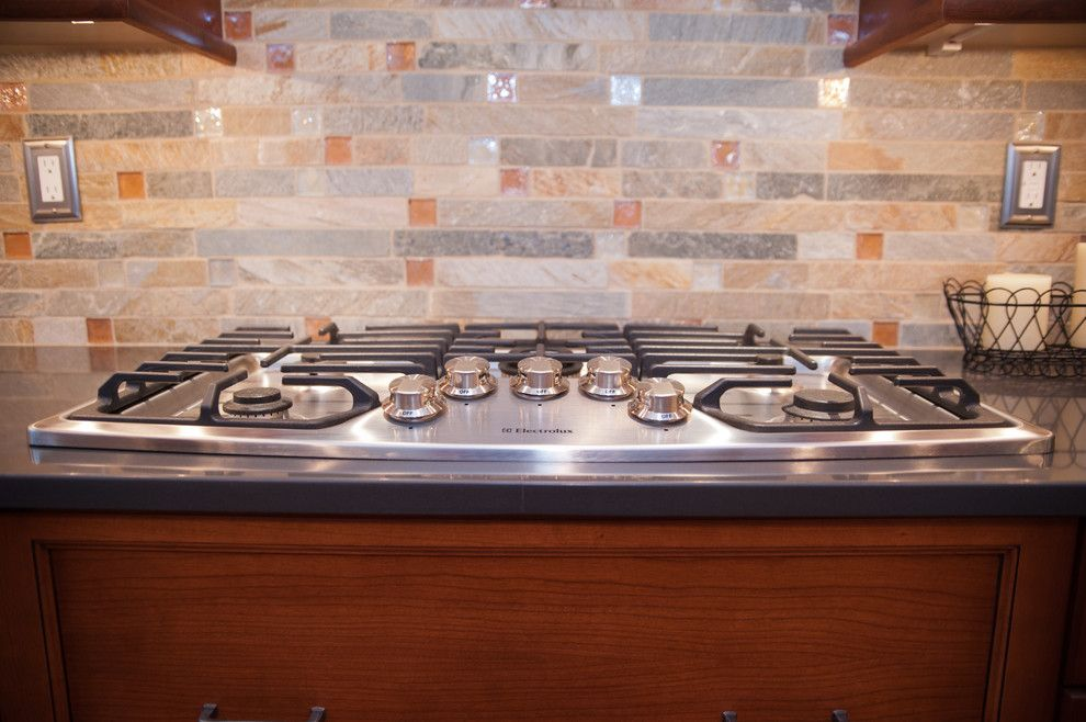 Installing Tile Backsplash for a Traditional Kitchen with a Countertop and