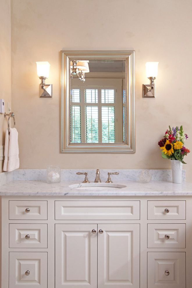 Interlachen Country Club for a Traditional Bathroom with a Wall Sconces and Interlachen Country Club (Edina) by John Kraemer & Sons