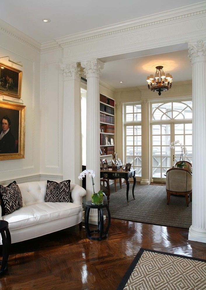 Ionic Columns for a Traditional Living Room with a Antiques and Kalorama Residence by Jd Ireland Interior Architecture + Design