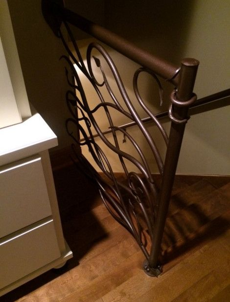 Iron Mountain Forge for a Shabby Chic Style Spaces with a Industrial and Vine and Leaf Railing by Iron Mountain Forge & Furniture