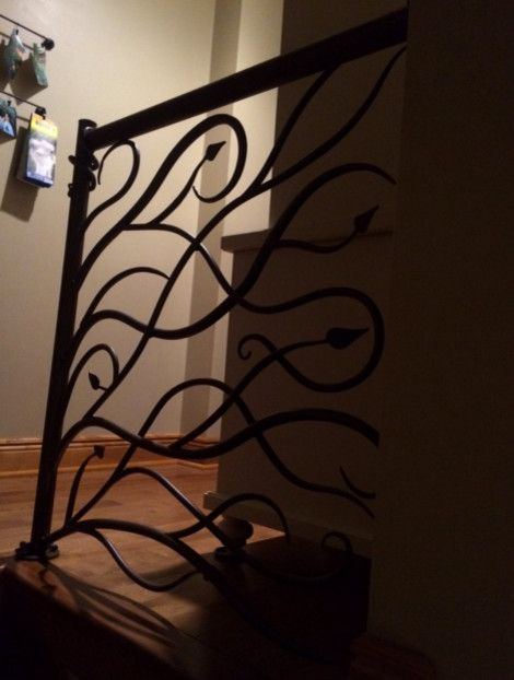 Iron Mountain Forge for a Shabby Chic Style Spaces with a Railing and Vine and Leaf Railing by Iron Mountain Forge & Furniture