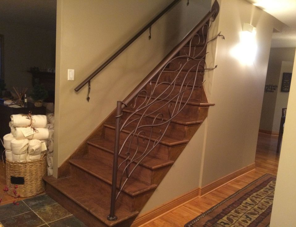 Iron Mountain Forge for a Shabby-Chic Style Spaces with a Rustic and Vine and Leaf Railing by Iron Mountain Forge & Furniture
