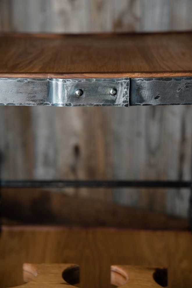 Iron Mountain Forge for a  Spaces with a  and Tea Trolley by Iron Mountain Forge & Furniture