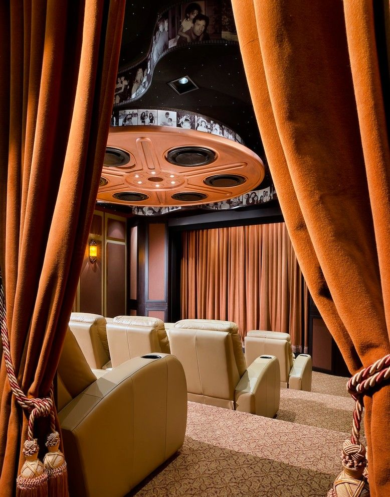 Islip Movie Theater for a Contemporary Home Theater with a Black and White Photography and Home Theatre by W.a. Bentz Construction, Inc.