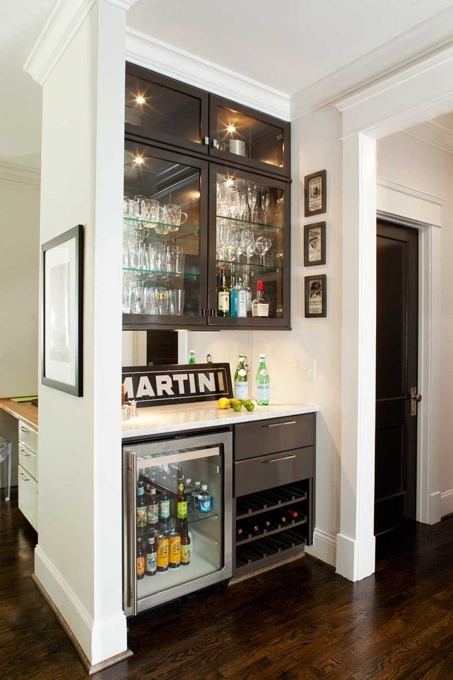 Jacobean Stain for a Contemporary Kitchen with a Crown Molding and Clairemont Whole House Renovation by Terracotta Design Build
