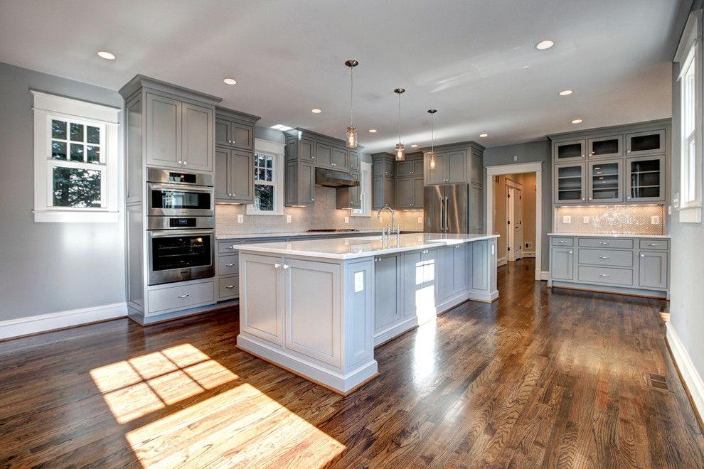 Jacobean Stain for a Craftsman Kitchen with a Mission and the Lincoln by Starbuck Realty