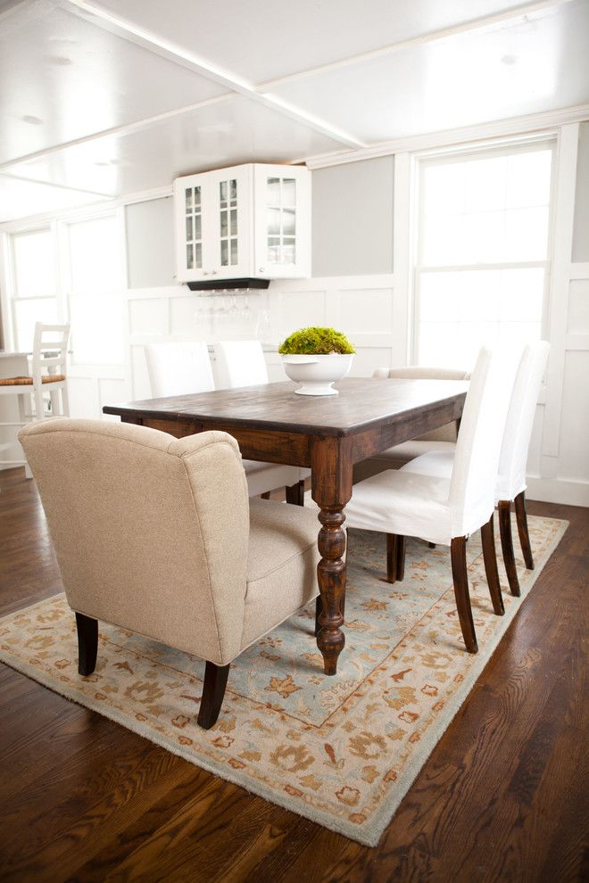 Jacobean Stain for a Traditional Dining Room with a Dark Wood Dining Table and Jen Migonis by Tess Fine