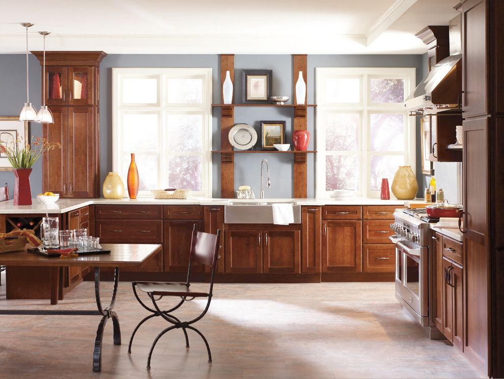 Jacobean Stain for a Traditional Kitchen with a Stain and Kitchen Cabinets by Capitol District Supply