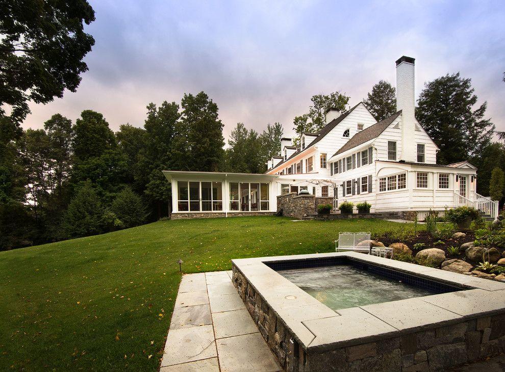 Jason Tubs for a Traditional Landscape with a Outdoor Dining and Hot Tub by Phinney Design Group