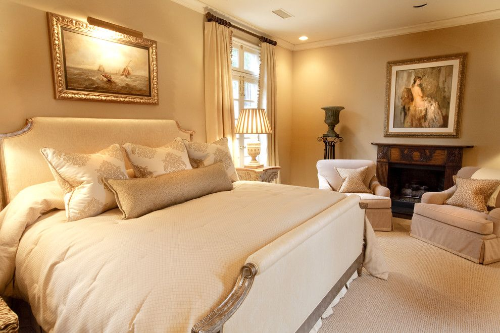 Jeff Lewis Paint for a Traditional Bedroom with a Sitting Area and Traditional Bedroom by Houzz.com