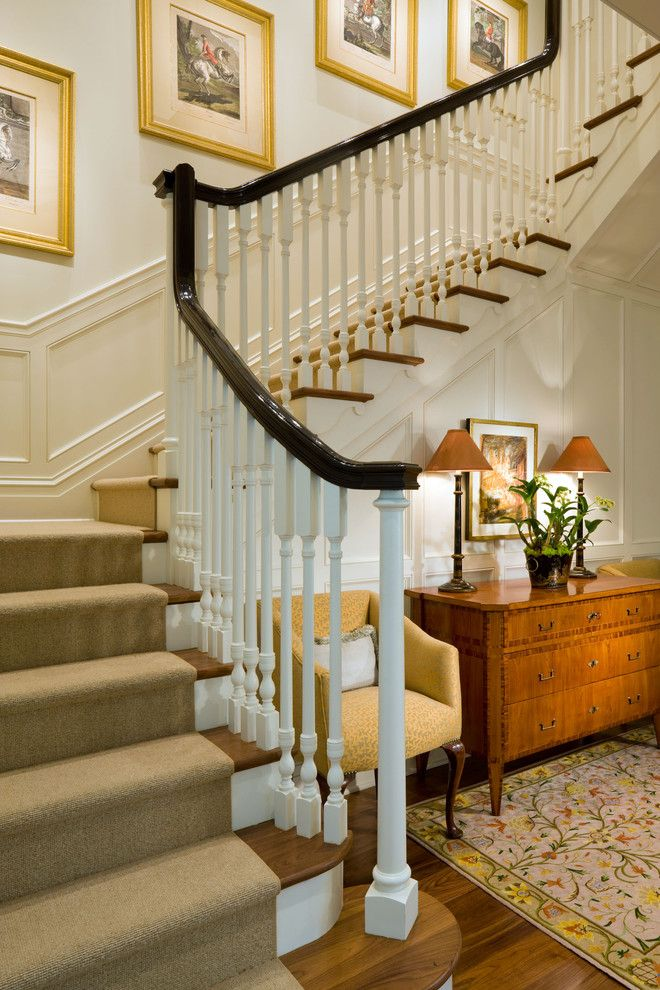 Jeff Lewis Paint for a Traditional Staircase with a Colonial and Cherry Creek by Neumann Lewis Buchanan Architects