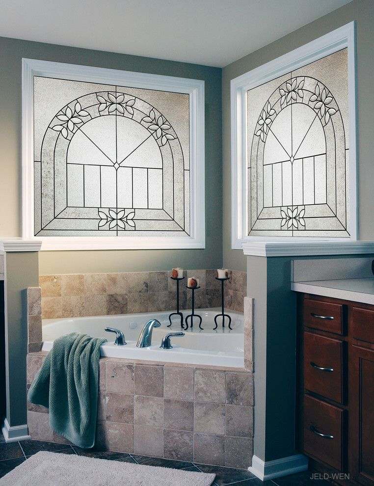 Jeld Wen Doors for a Traditional Spaces with a Bathroom Windows and Bathrooms by Jeld Wen Windows & Doors (Canada)