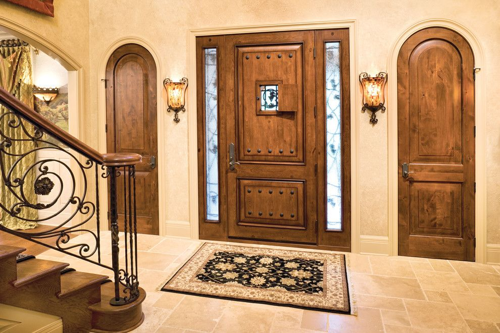 Jeld Wen Doors for a Transitional Entry with a Knotty Alder Door and Jeld Wen Aurora Custom Fiberglass Doors by Renaissance Windows & Doors