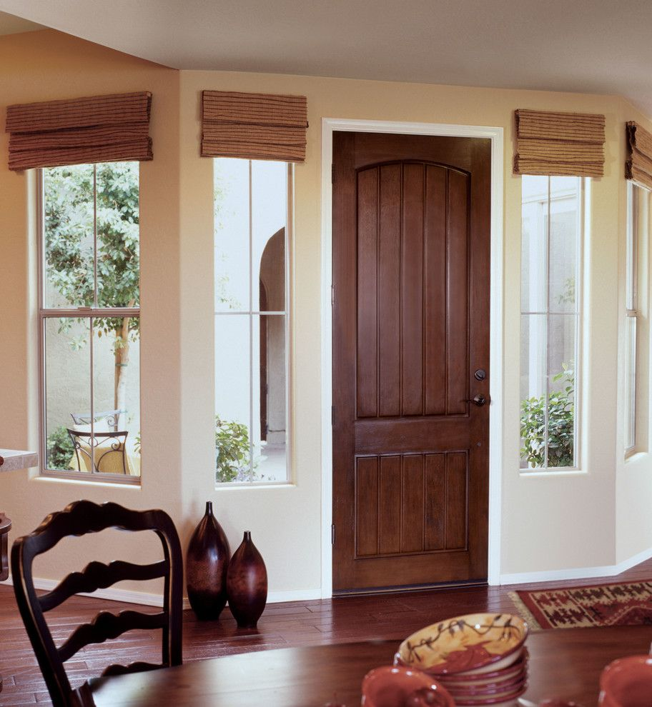 Jeld Wen For A Transitional Dining Room With Exterior Doors And
