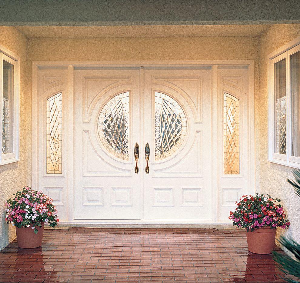 Jeld Wen for a Transitional Entry with a Custom Doors and Jeld Wen Aurora Custom Fiberglass Doors by Renaissance Windows & Doors