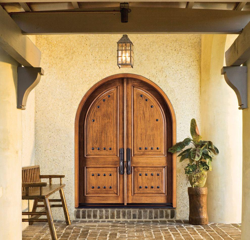 Jeld Wen for a Transitional Entry with a Jeld Wen Front Door and Jeld Wen Aurora Custom Fiberglass Doors by Renaissance Windows & Doors