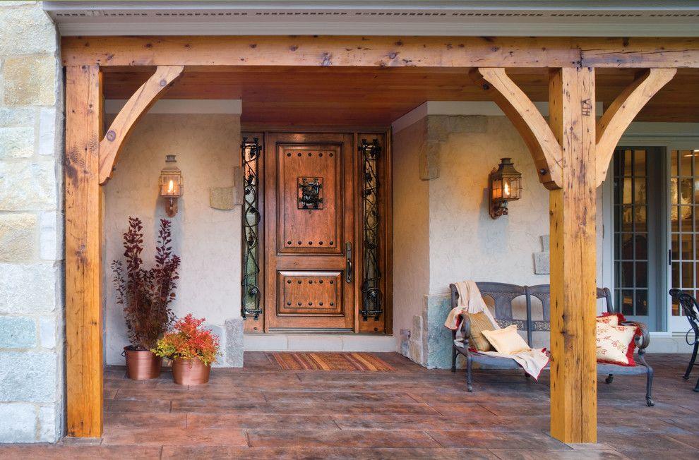 Jeld Wen for a Transitional Patio with a Jeld Wen Front Door and Jeld Wen Aurora Custom Fiberglass Doors by Renaissance Windows & Doors