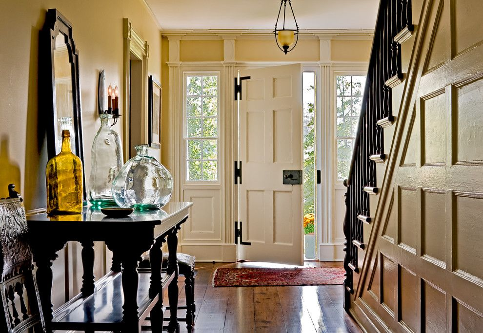 Jen Weld Doors for a Traditional Entry with a Entry Table and Crisp Architects by Crisp Architects