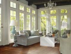 Jen Weld Doors for a Traditional Spaces with a Beamed Ceiling and Living Room by Carpet One Floor & Home