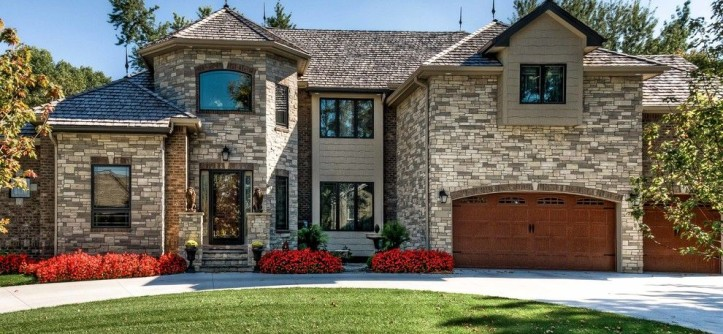 Jenkins Brick for a Rustic Exterior with a Grey and Residential Stone Exteriors by Fireplace Stone & Patio